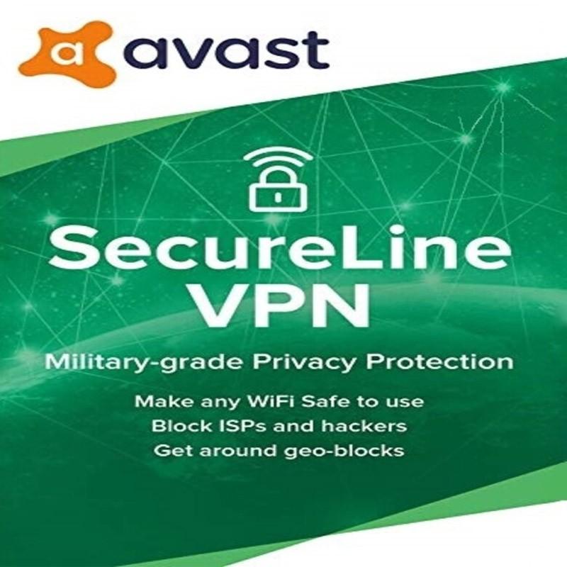 AVAST SECURELINE VPN 5DVICE 1 YEAR